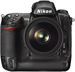 Nikon D3X digital SLR. Image courtesy of Nikin USA, with modifications by Zig Weidelich.