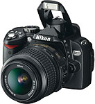 Nikon D60 SLR, Courtesy of Nikon, with modifications by Zig Weidelich.