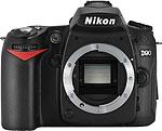Nikon D90 digital SLR camera. Copyright © 2008, The Imaging Resource. All rights reserved.