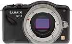 Panasonic Lumix DMC-GF3 digital camera. Copyright © 2011, The Imaging Resource. All rights reserved.