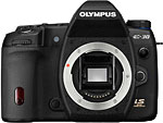 Olympus E-30 digital SLR. Courtesy of Olympus USA, with modifications by Zig Weidelich.