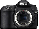 Canon EOS 50D digital SLR.  Courtesy of Canon, with modifications by Zig Weidelich.