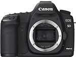 Canon EOS 5D Mark II digital SLR camera. Courtesy of Canon USA, with modifications by Zig Weidelich.