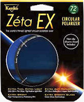 Kenko's Zeta EX Circular Polarizer filter packaging. Photo provided by Kenko Co. Ltd.