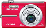 Olympus FE-370 digital camera. Courtesy of Olympus, with modifications by Zig Weidelich.