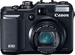 Canon PowerShot G10. Courtesy of Canon, with modifications by Zig Weidelich.