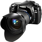 Samsung GX-20 SLR. Courtesy of Samsung, with modifications by Zig Weidelich.
