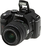 Pentax K-x digital SLR.  Copyright © 2009, The Imaging Resource. All rights reserved.