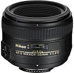 Nikon AF-S NIKKOR 50mm f/1.4G. Courtesy of Nikon, with modifications by Zig Weidelich.
