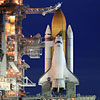 NASA's space shuttle Atlantis on the launch pad. Photo provided by NASA.