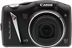 Canon PowerShot SX130 IS digital camera.  Copyright © 2011, The Imaging Resource. All rights reserved.