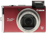 Canon PowerShot SX200 IS digital camera. Copyright © 2009, The Imaging Resource. All rights reserved.