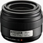 Olympus' Zuiko 35mm f3.5 lens. Courtesy of Olympus, with modifications by Michael R. Tomkins.