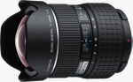 Olympus' Zuiko Digital 7-14mm F4.0 lens. Courtesy of Olympus, with modifications by Michael R. Tomkins.