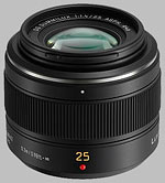 Panasonic 25mm f/1.4 ASPH Leica DG Summilux lens.