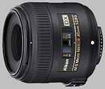 Nikon 40mm f/2.8G AF-S Micro Nikkor lens.
