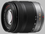 Panasonic 14-42mm f/3.5-5.6 ASPH MEGA O.I.S. LUMIX G Vario lens.