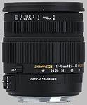 Sigma 17-70mm f/2.8-4 DC Macro OS HSM lens.