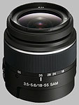 Sony 18-55mm f/3.5-5.6 DT SAM lens.