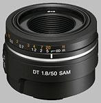 Sony 50mm f/1.8 SAM SAL-50F18 lens.