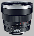 Carl Zeiss 85mm f/1.4 Planar lens.