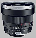 Carl Zeiss 85mm f/1.4 Planar lens.