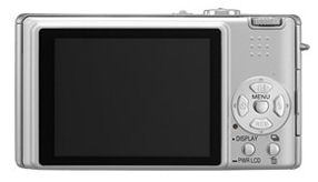 Panasonic's Lumix DMC-FX8 digital camera. Courtesy of Panasonic, with modifications by Michael R. Tomkins.