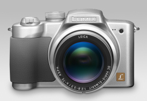 Panasonic's Lumix DMC-FZ4 digital camera. Courtesy of Panasonic, with modifications by Michael R. Tomkins. Click for a bigger picture!
