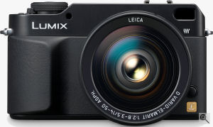 Panasonic's Lumix DMC-L1 digital SLR. Courtesy of Panasonic, with modifications by Michael R. Tomkins. Click for a bigger picture!