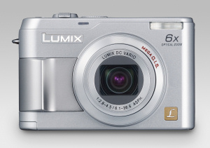 Panasonic's Lumix DMC-LZ1 digital camera. Courtesy of Panasonic, with modifications by Michael R. Tomkins. Click for a bigger picture!