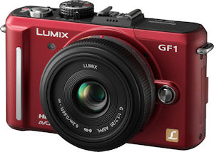 Panasonic's Lumix DMC-GF1 digital camera. Photo provided by Panasonic Consumer Electronics Co. Click for a bigger picture!