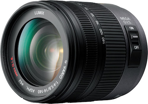 Panasonic's LUMIX G VARIO HD 14-140mm / F4.0-5.8 ASPH. / MEGA O.I.S. lens. Photo provided by Panasonic Corp. Click for a bigger picture!