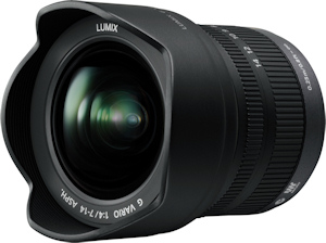 Panasonic's Lumix G Vario 7-14mm F4.0 Asph. lens. Photo provided by Panasonic Consumer Electronics Co. Click for a bigger picture!