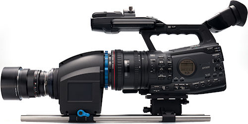 Redrock Indie Bundle with Canon XF305 high definition camcorder and Carl Zeiss lens. Photo provided by Redrock Microsystems, LLC. Click for a bigger picture!