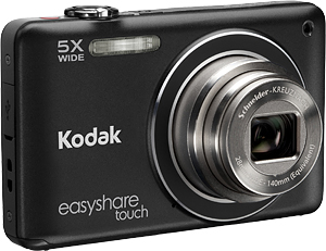 Kodak's EasyShare Touch M5370 digital camera. Image provided by Eastman Kodak Co. Click for a bigger picture!