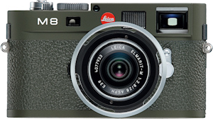Leica's M8.2 Safari edition digital camera, close-up. Photo provided by Leica Camera AG. Click for a bigger picture!
