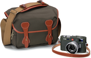 Leica's M8.2 Safari edition digital camera with bundled calfskin strap / Billingham bag. Photo provided by Leica Camera AG. Click for a bigger picture!