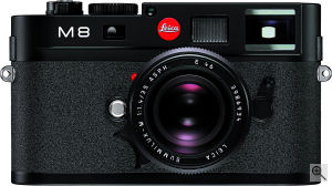 Leica's M8 digital camera. Courtesy of Leica, with modifications by Michael R. Tomkins. Click for a bigger picture!