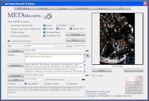 METAmachine's META Basics tab. Screenshot provided by HindSight Ltd. Click for a bigger picture!