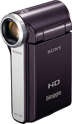 Sony's Bloggie MHS-CM5 digital camcorder. Photo provided by Sony Electronics Inc. Click for a bigger picture!