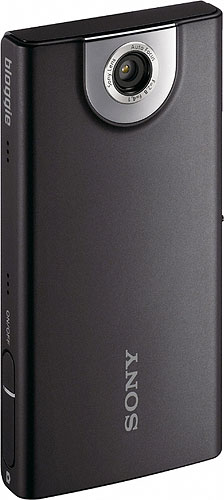 Sony's Bloggie MHS-FS1 pocket video camera. Photo provided by Sony Electronics Inc. Click for a bigger picture!