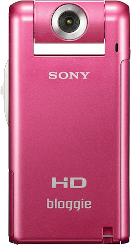 The pink version of Sony's Bloggie MHS-PM5 digital camcorder. Photo provided by Sony Electronics Inc. Click for a bigger picture!