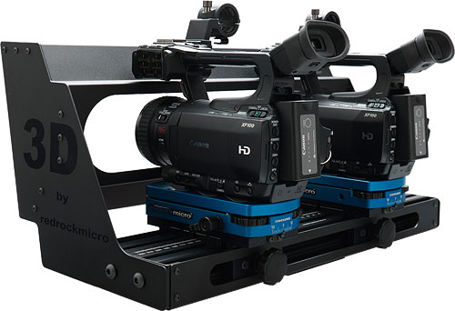 Redrock Micro's micro3D video camera rig. Photo provided by Redrock Microsystems LLC. Click for a bigger picture!