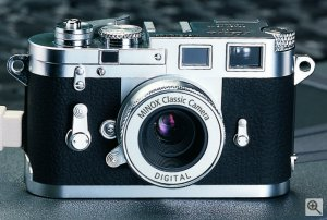 Minox's Digital Classic Camera Leica M3.  Courtesy of Minox, with modifications by Michael R. Tomkins. Click for a bigger picture!