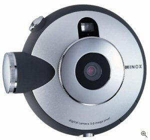 Minox's DD1 digital camera. Courtesy of Minox Germany, with modifications by Michael R. Tomkins. Click for a bigger picture!