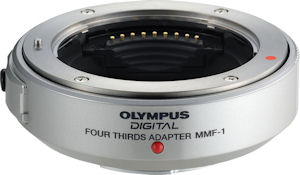 Olympus' MMF-1 Four Thirds adapter. Photo provided by Olympus Imaging America Inc. Click for a bigger picture!