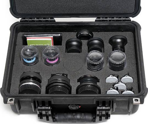 A Pelican hard case with custom insert is included to keep the Lensbaby Movie Maker's Kit safe in transport or storage. Photo provided by Lensbaby Inc. Click for a bigger picture!