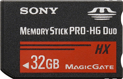 Sony's Memory Stick PRO-HG Duo HX card in 32GB capacity. Photo provided by Sony Sony Electronics Asia Pacific Pte Ltd. Click for a bigger picture!