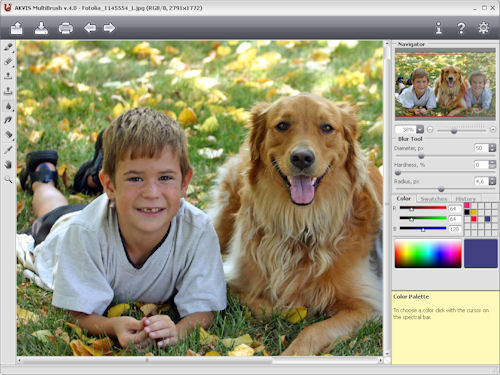 The blur tool in AKVIS MultiBrush v4.0. Photo provided by AKVIS Software Inc. Click for a bigger picture!