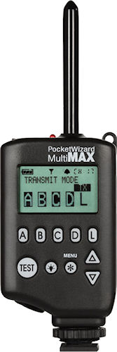 PocketWizard MultiMAX Transceiver. Photo provided by LPA Design. Click for a bigger picture!